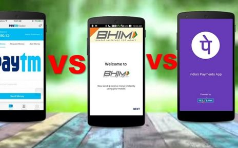 bhim, paytm and google pay