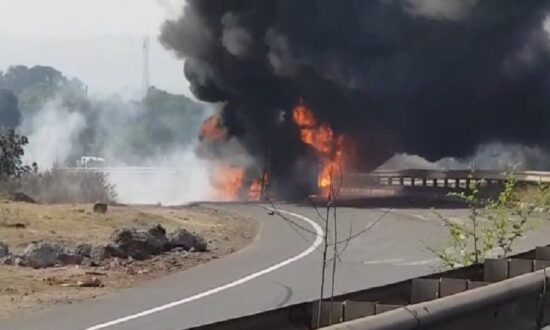 Fire in tanker